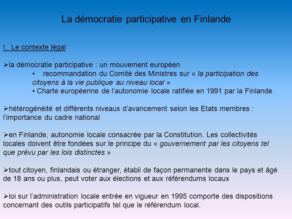 La démocratie participative en Finlande