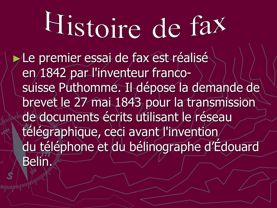 Histoire de fax