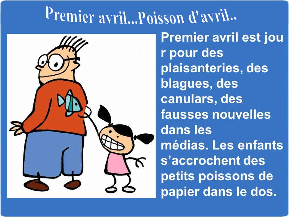 Premier avril...Poisson d avril..