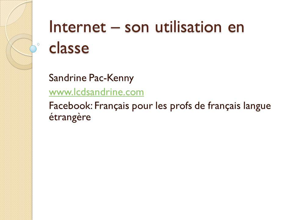 Internet – son utilisation en classe