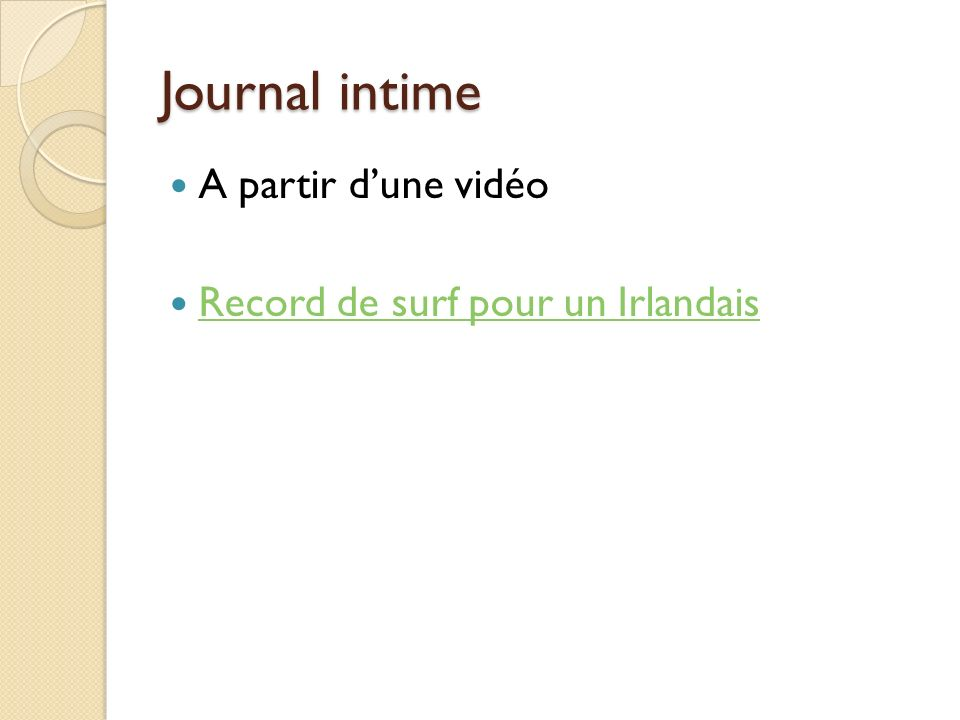 Journal intime A partir d'une vidéo Record de surf pour un Irlandais