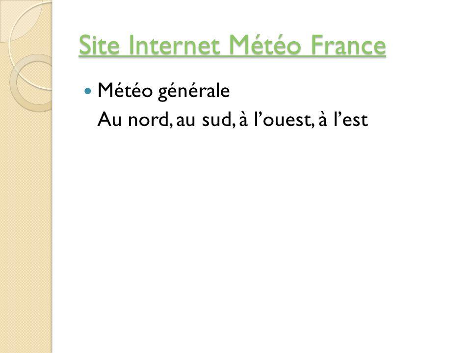 Site Internet Météo France