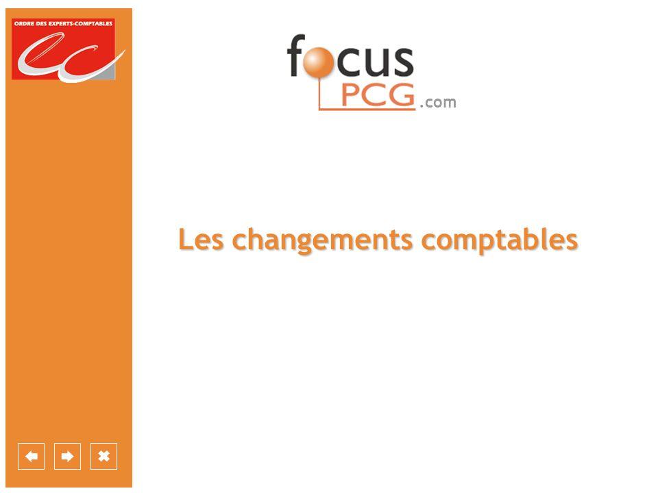 Les changements comptables