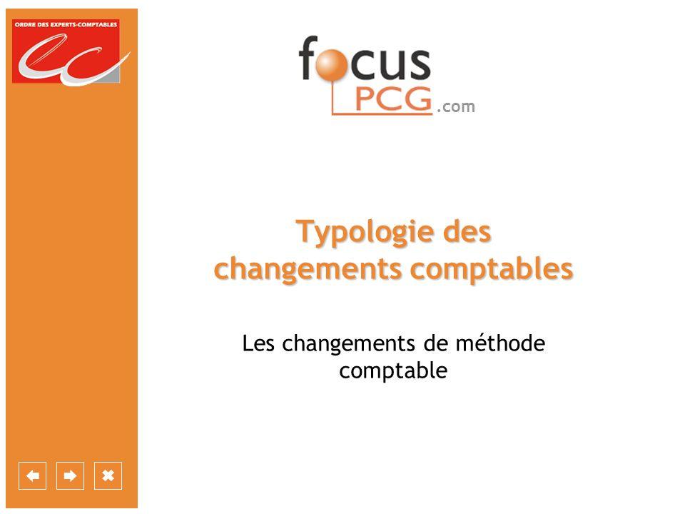 Typologie des changements comptables