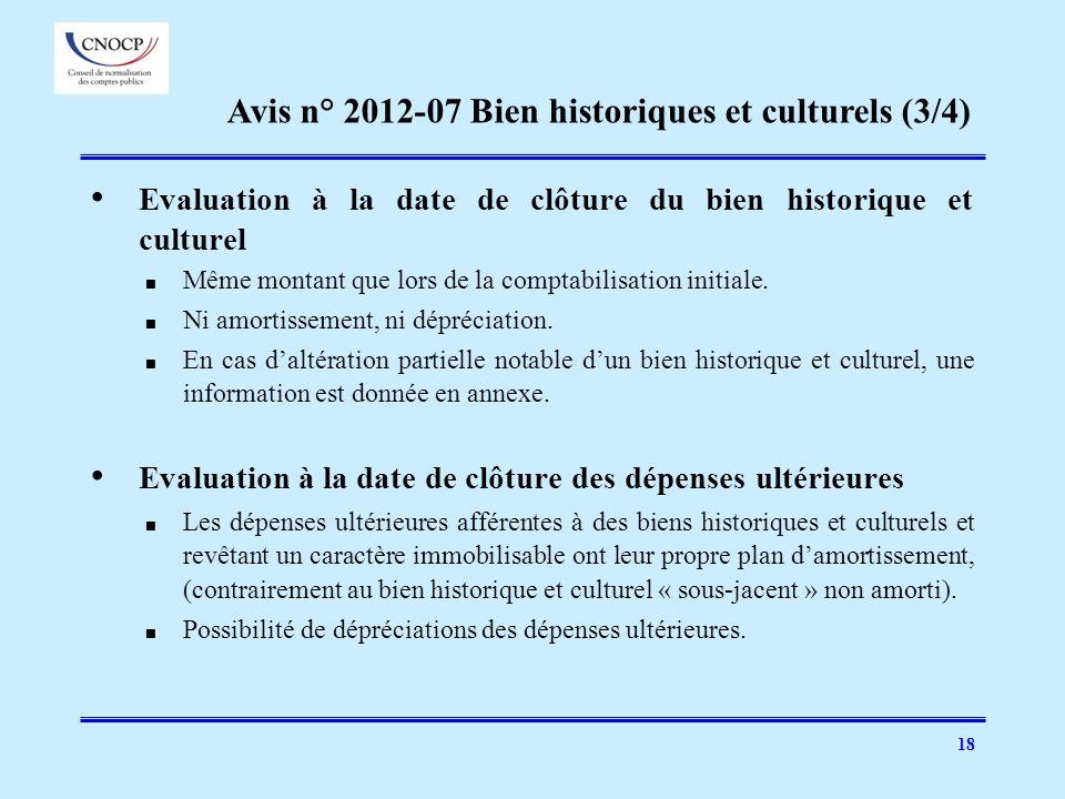 Avis n° 2012-07 Bien historiques et culturels (3/4)