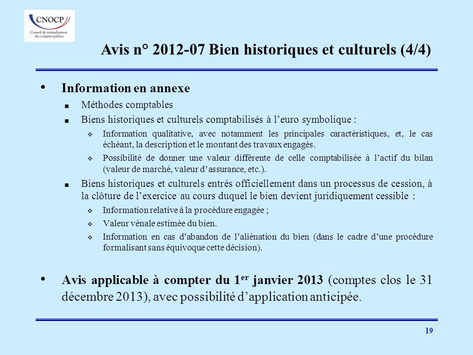 Avis n° 2012-07 Bien historiques et culturels (4/4)