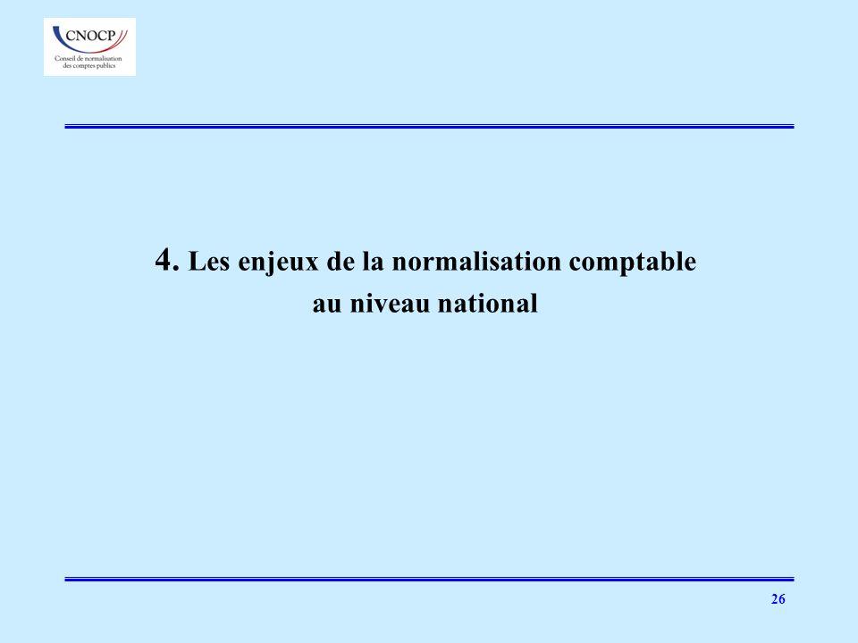 4. Les enjeux de la normalisation comptable