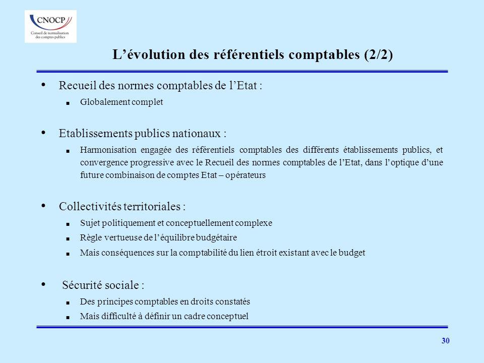L'évolution des référentiels comptables (2/2)
