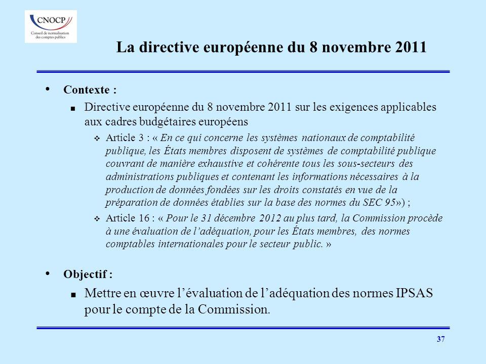 La directive européenne du 8 novembre 2011