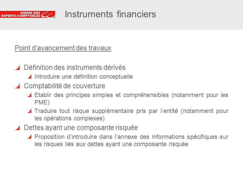 Instruments financiers