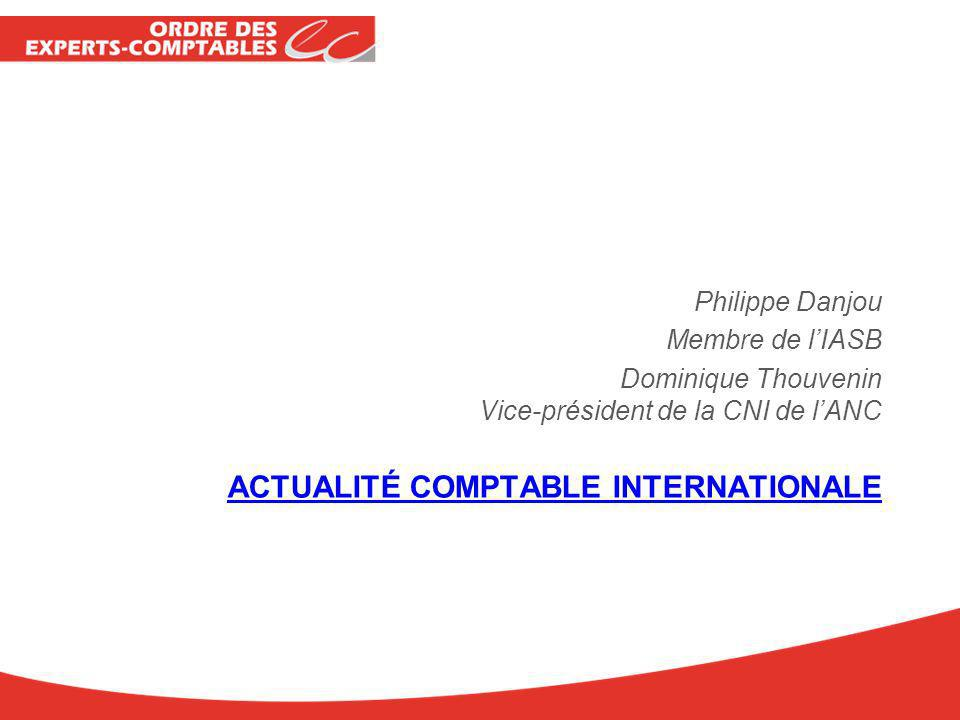 Actualité comptable internationale