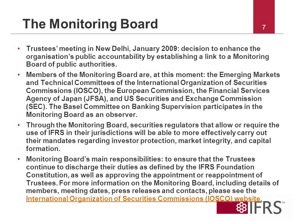 26 Novembre 2010 The Monitoring Board.