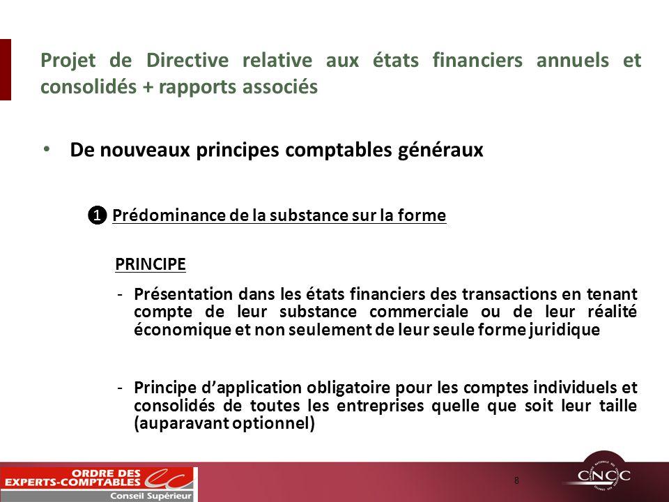 De nouveaux principes comptables généraux