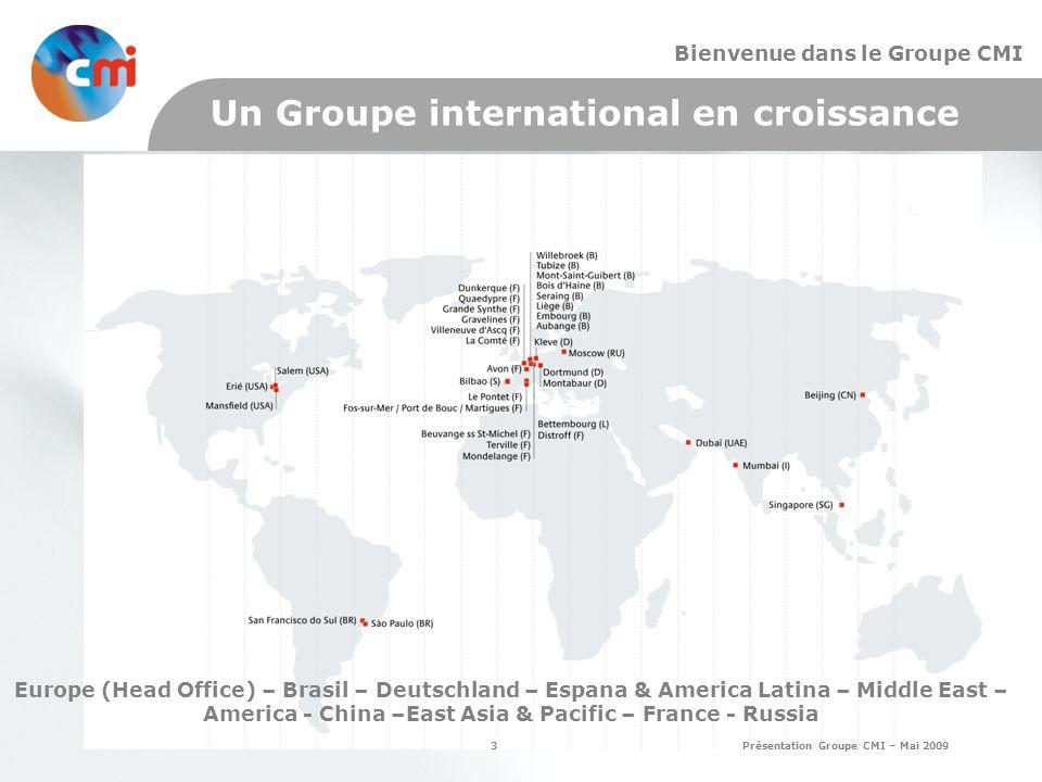 Un Groupe international en croissance