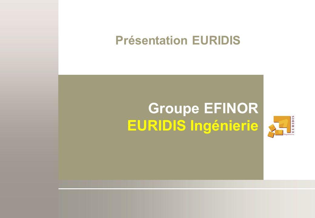 Présentation EURIDIS Groupe EFINOR EURIDIS Ingénierie
