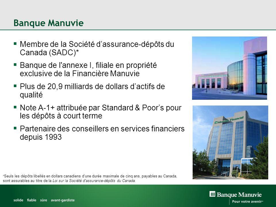 Banque Manuvie Membre de la Société d'assurance-dépôts du Canada (SADC)*