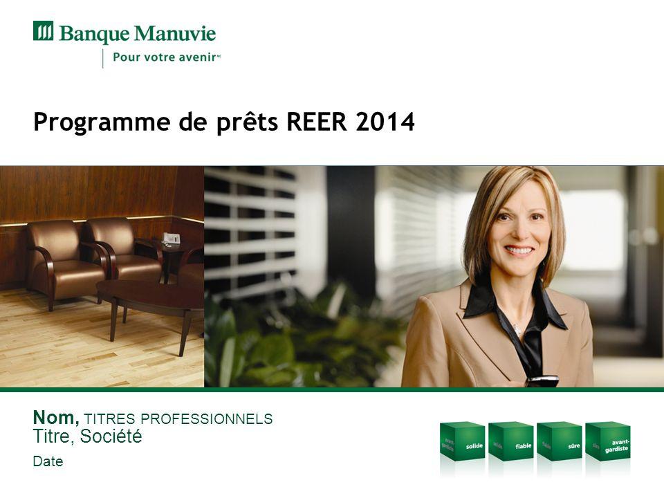 Programme de prêts REER 2014