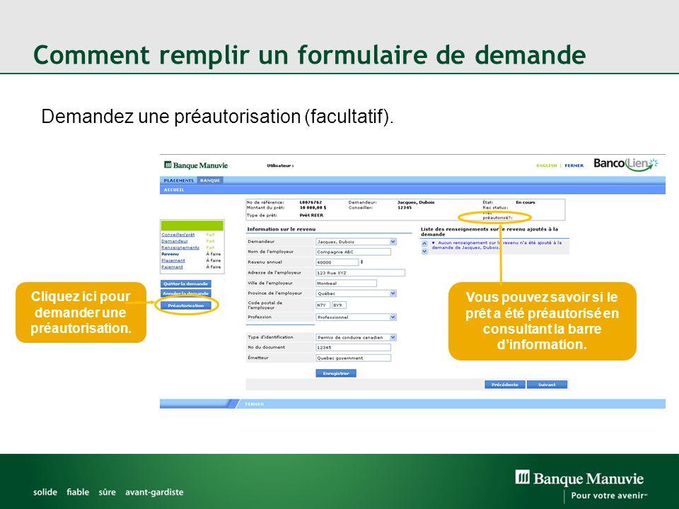 Comment remplir un formulaire de demande