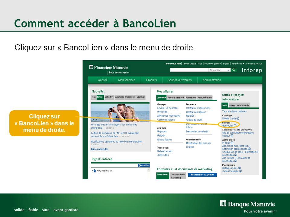 Comment accéder à BancoLien