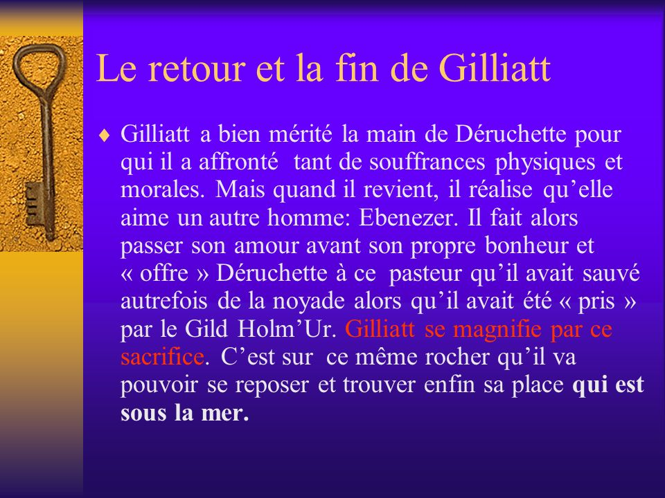 Le retour et la fin de Gilliatt