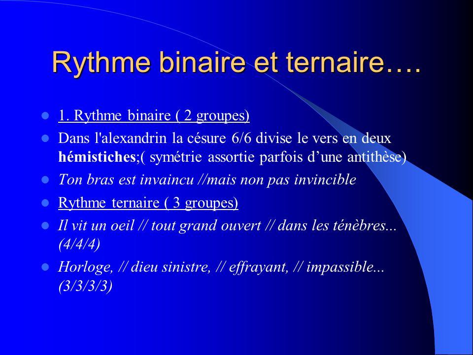 Rythme binaire et ternaire….