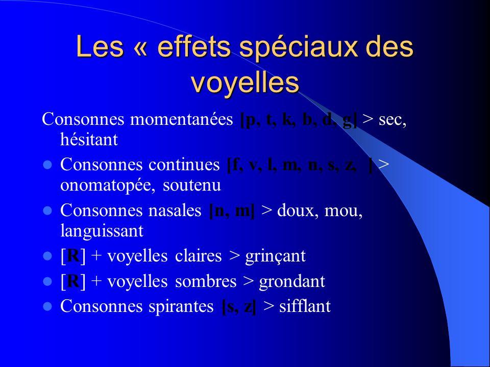 Les « effets spéciaux des voyelles