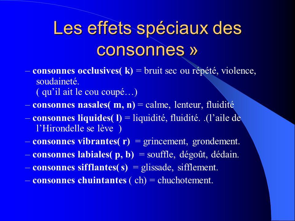 Les effets spéciaux des consonnes »