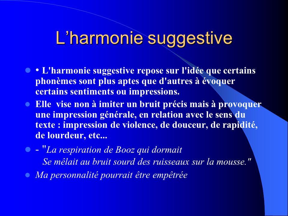 L'harmonie suggestive