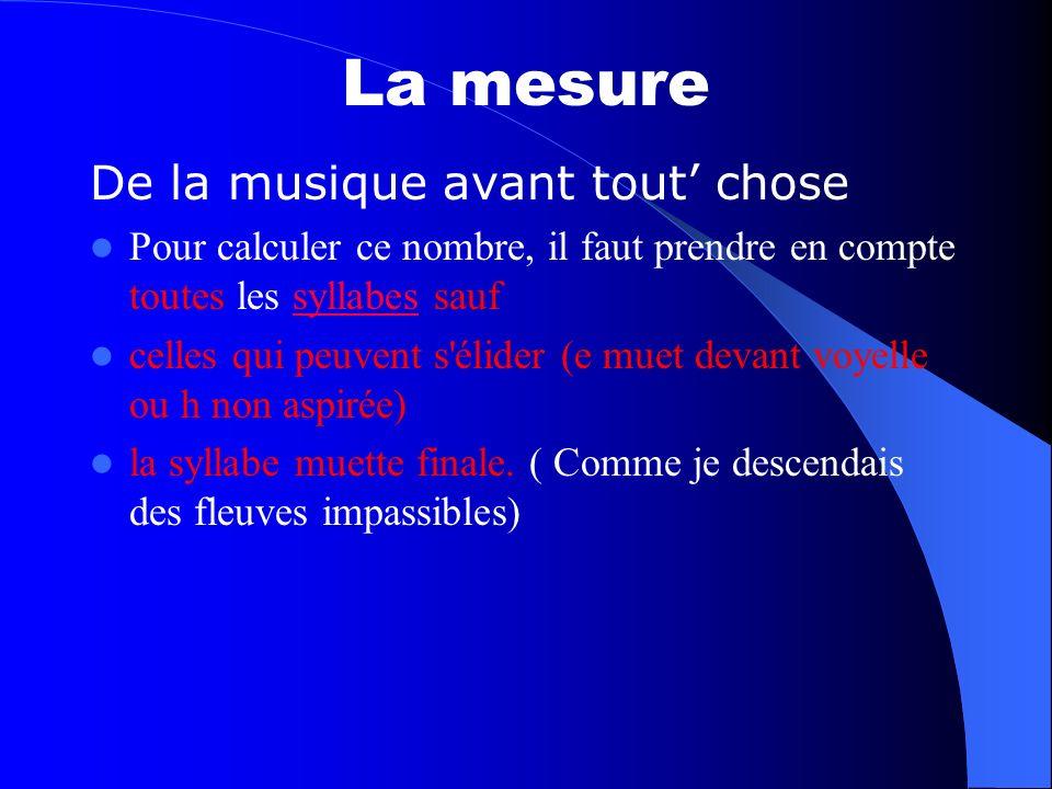 La mesure De la musique avant tout' chose