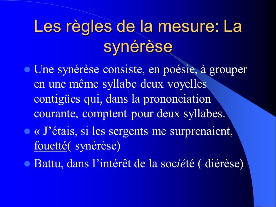 Les règles de la mesure: La synérèse