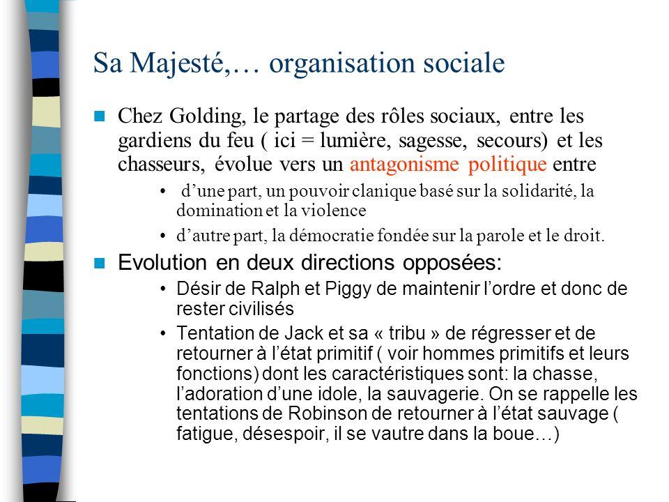 Sa Majesté,… organisation sociale