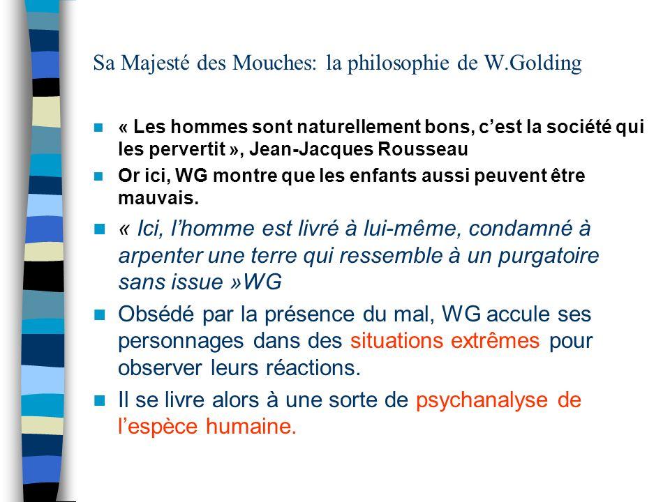 Sa Majesté des Mouches: la philosophie de W.Golding