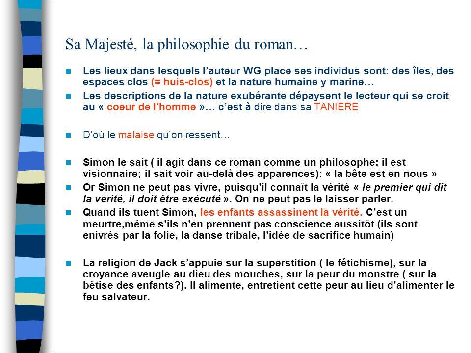 Sa Majesté, la philosophie du roman…