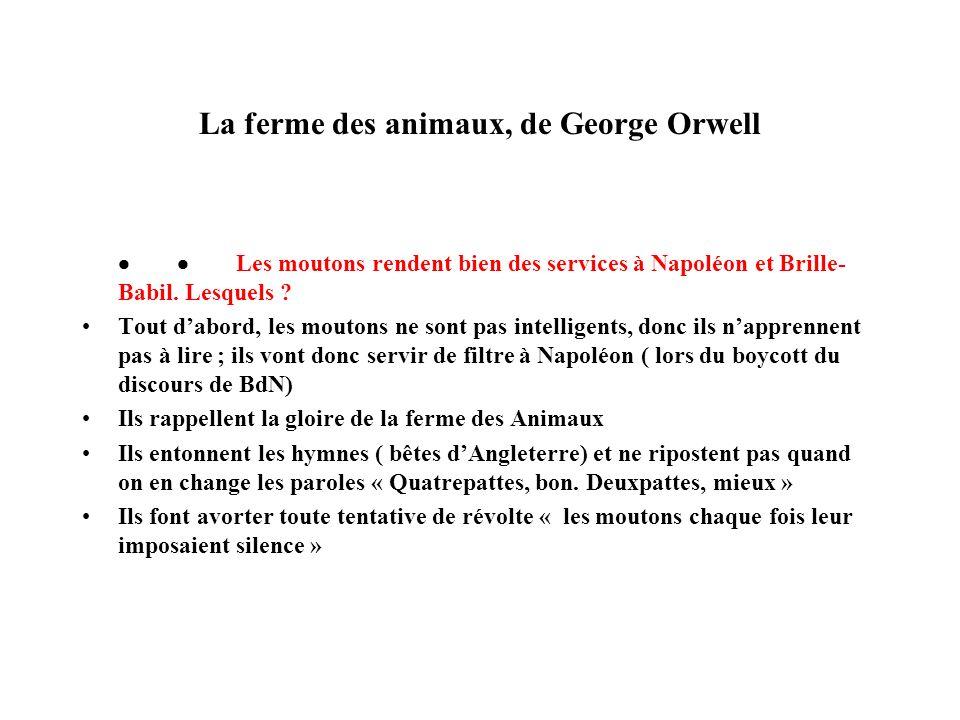 La ferme des animaux, de George Orwell
