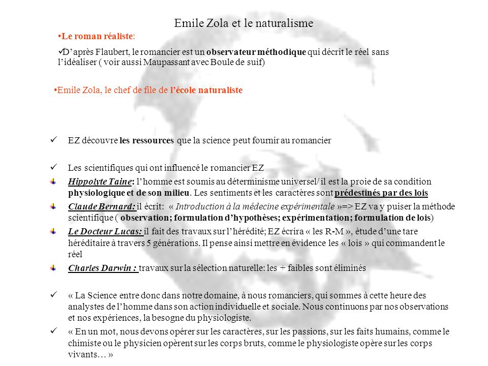 Emile Zola et le naturalisme