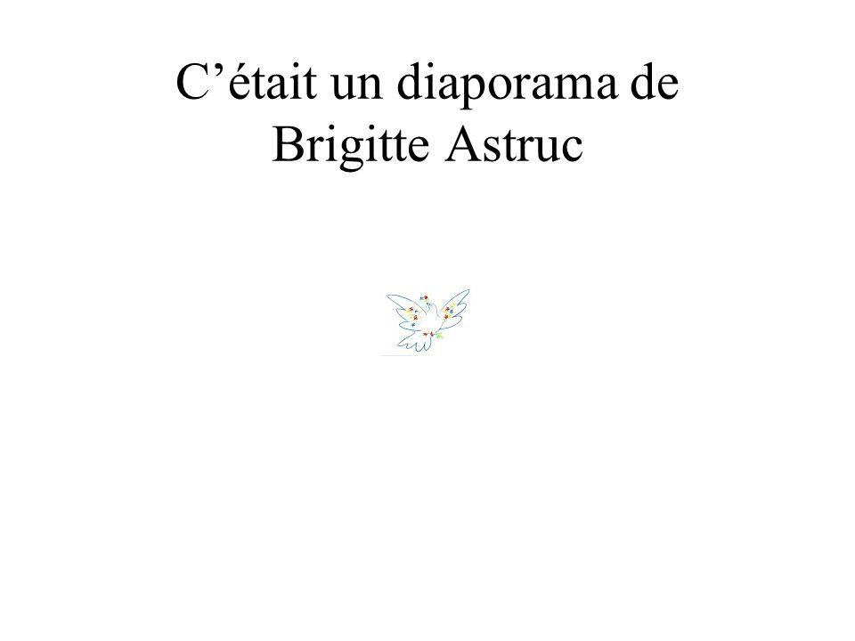 C'était un diaporama de Brigitte Astruc