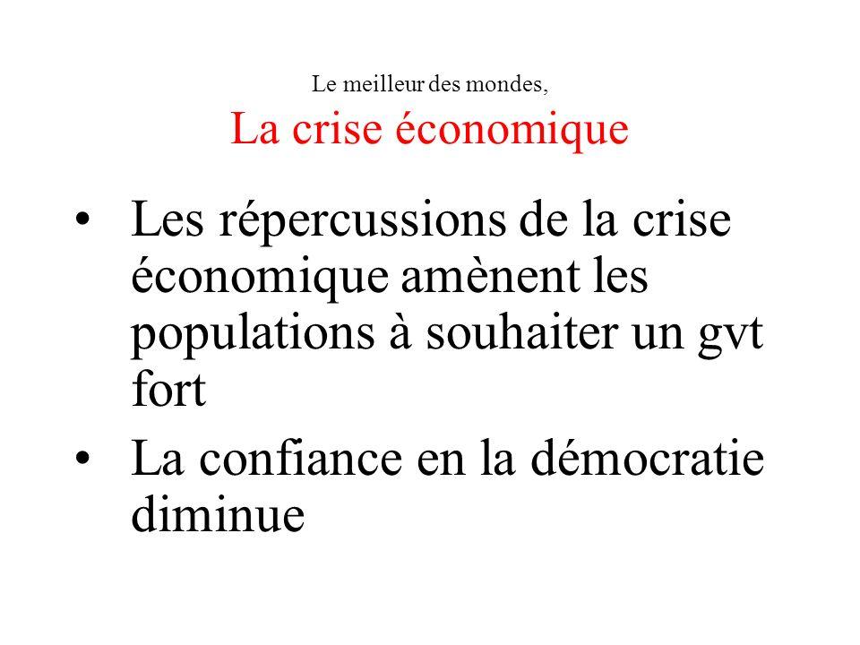Le meilleur des mondes, La crise économique