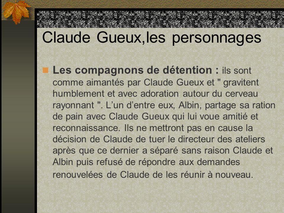 Claude Gueux,les personnages