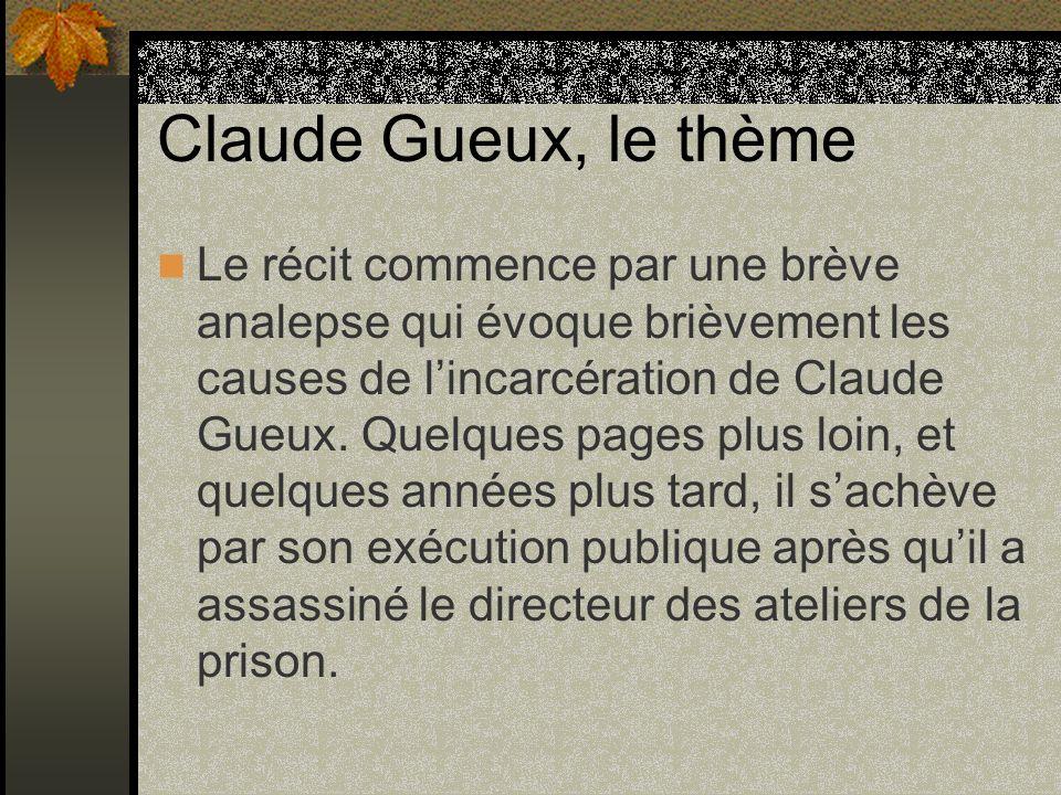 Claude Gueux, le thème