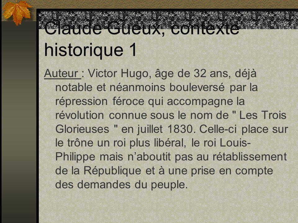 Claude Gueux, contexte historique 1