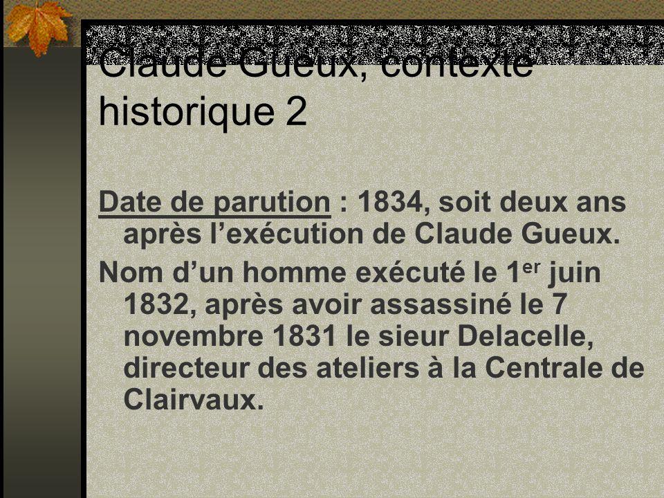 Claude Gueux, contexte historique 2