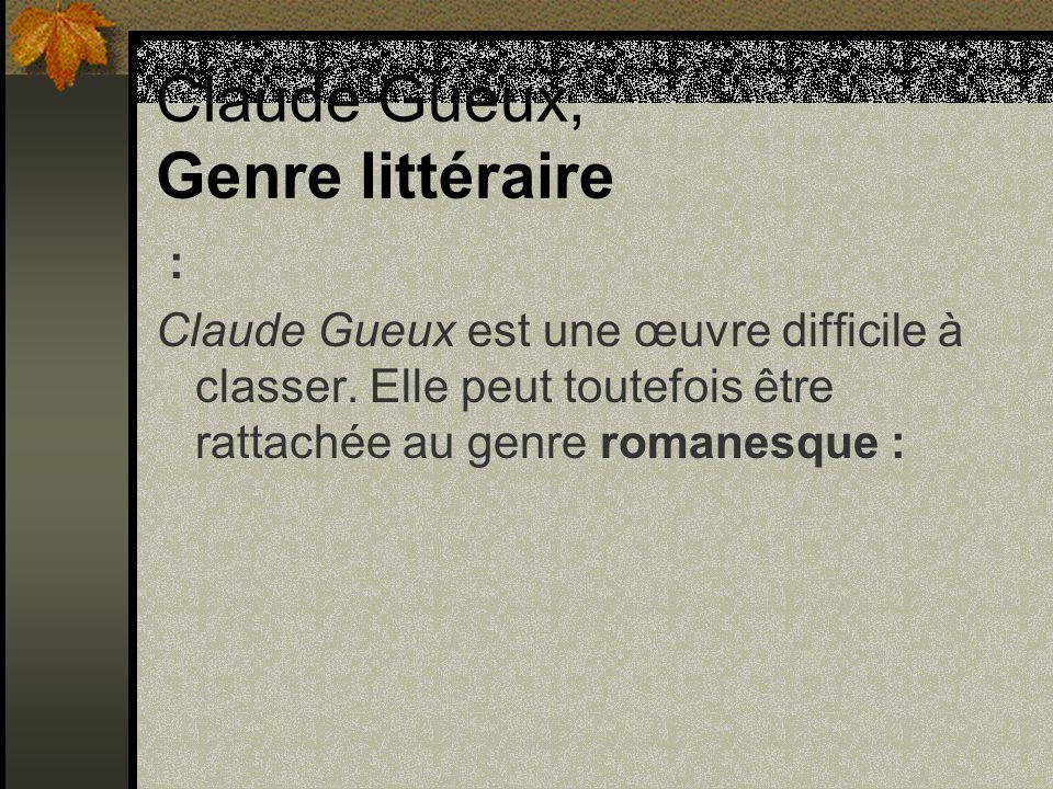 Claude Gueux, Genre littéraire