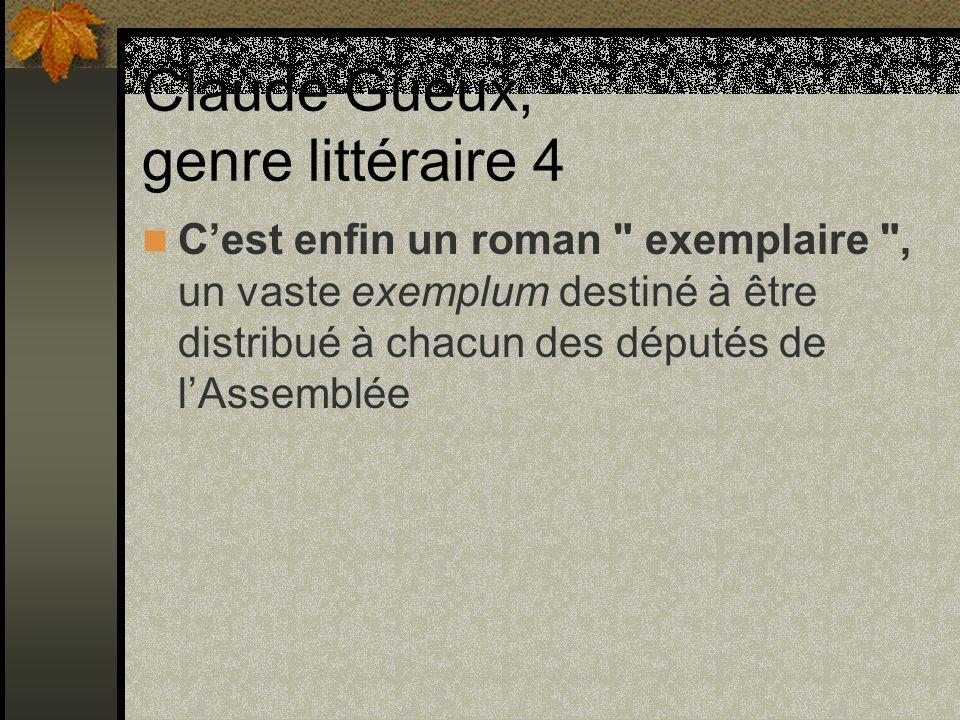 Claude Gueux, genre littéraire 4