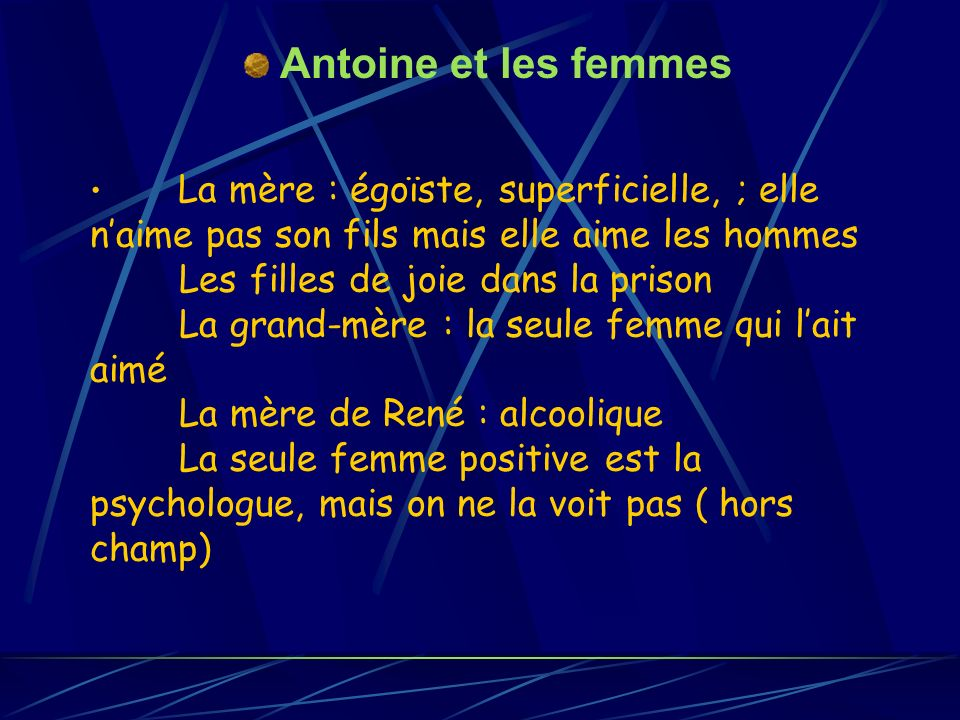Antoine et les femmes