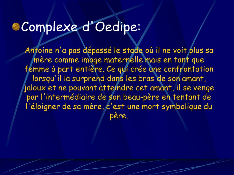 Complexe d Oedipe: