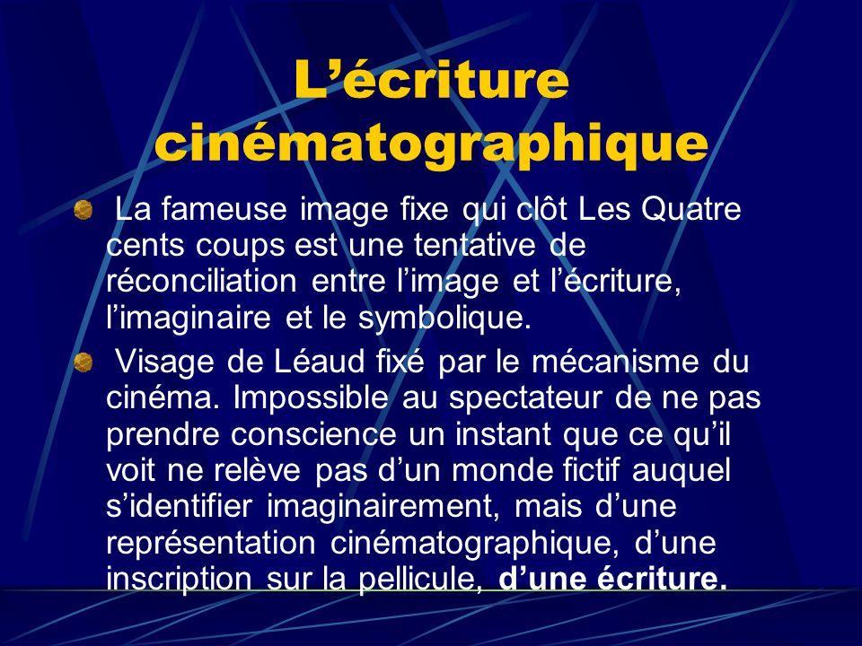 L'écriture cinématographique