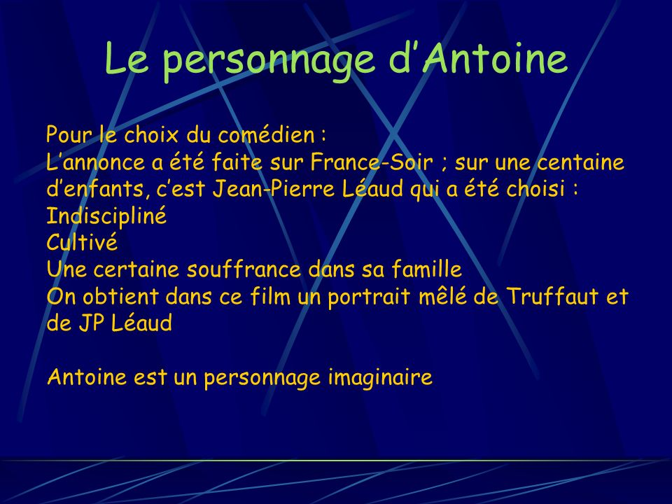 Le personnage d'Antoine