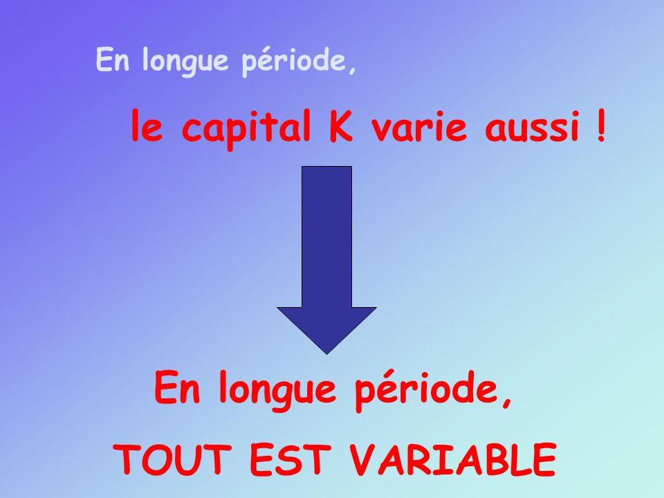le capital K varie aussi !
