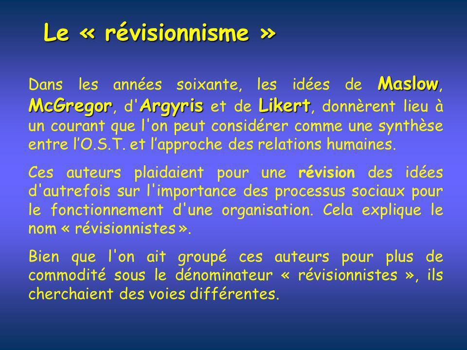 Le « révisionnisme »