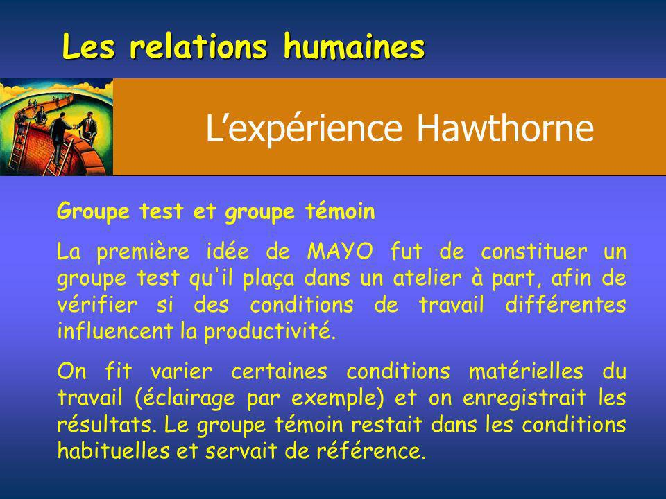 L'expérience Hawthorne